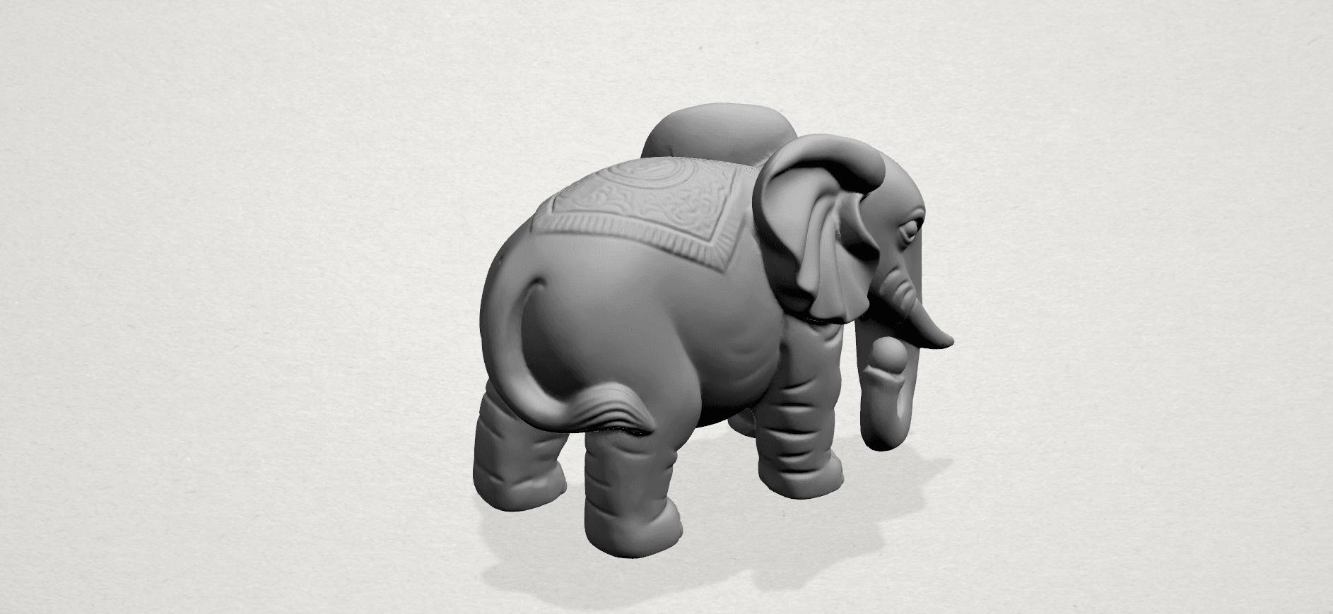 Elephant 03-A04.png Télécharger fichier STL gratuit Éléphant 03 • Modèle imprimable en 3D, GeorgesNikkei