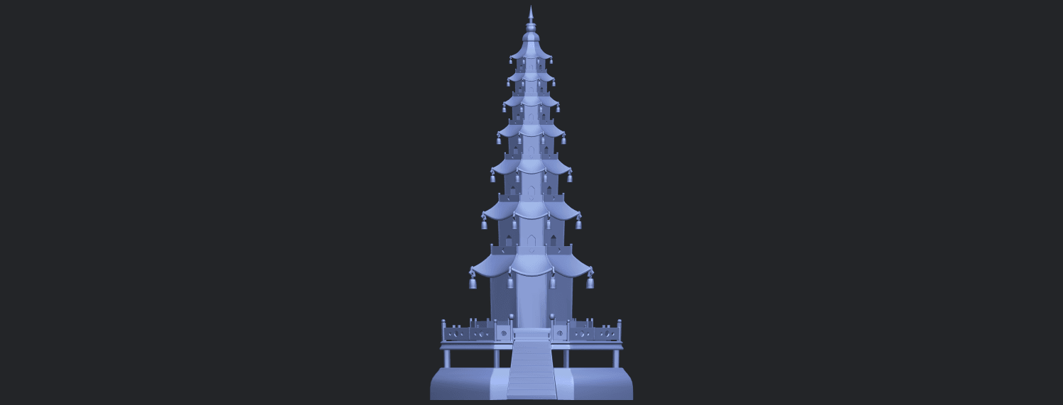03_TDA0623_Chiness_pagodaB01.png Download free STL file Chiness pagoda • Design to 3D print, GeorgesNikkei