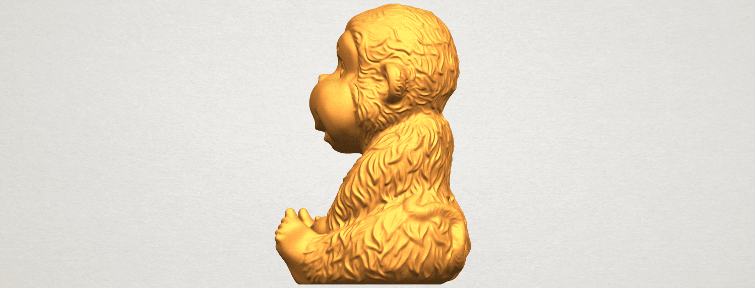 A04.png Download free STL file Monkey A01 • 3D printer model, GeorgesNikkei