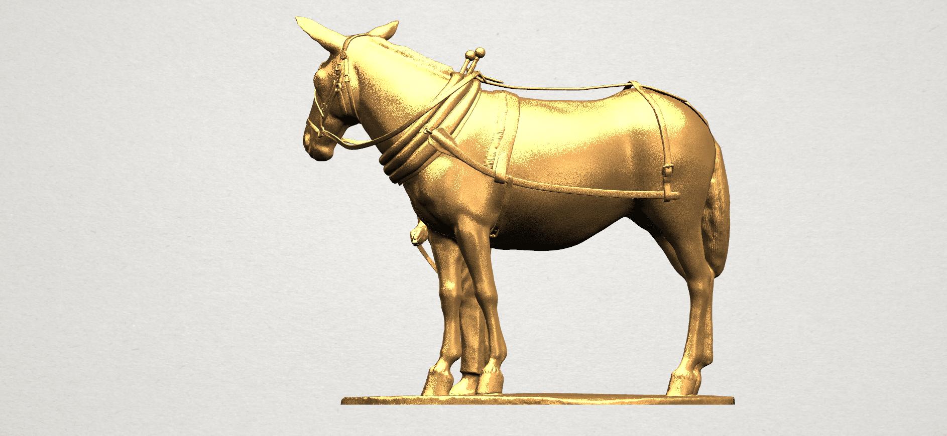 Horse with Man (i) - A03.png Télécharger fichier STL gratuit Cheval avec Man 01 • Objet à imprimer en 3D, GeorgesNikkei