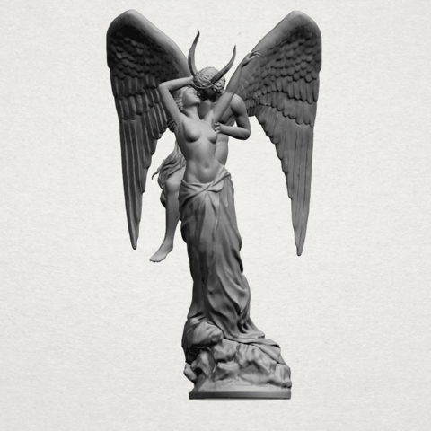 Angel and devil - A02.png Download free 3DS file Angel and devil • 3D print template, GeorgesNikkei