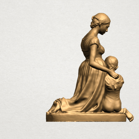 Mother-Child (ii) A05.png Download free STL file Mother and Child 02 • 3D printable design, GeorgesNikkei