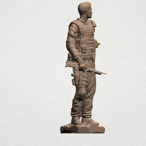 American Soldier A06.png Download free STL file American Soldier • Template to 3D print, GeorgesNikkei