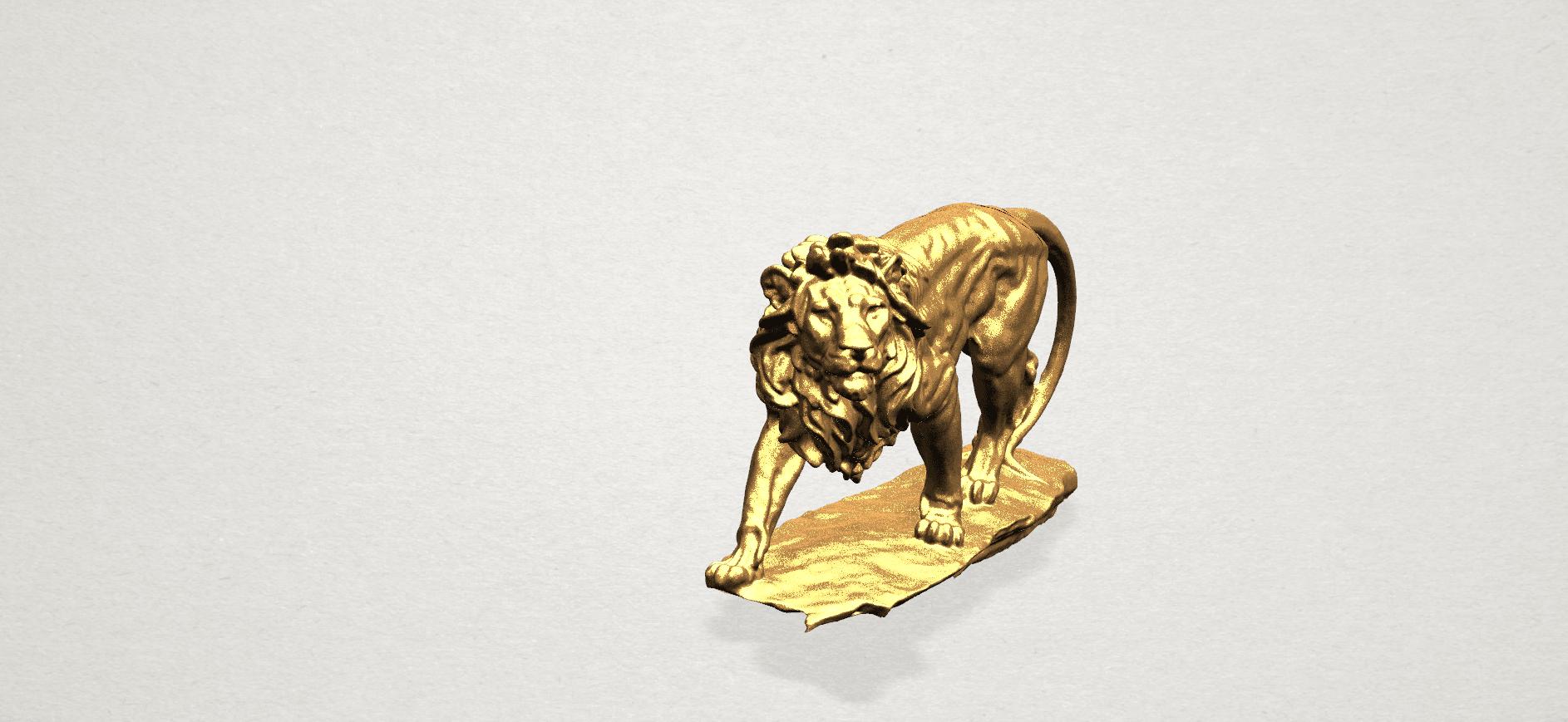 Lion (ii) -50mm-B05.png Télécharger fichier STL gratuit Lion 02 • Design pour impression 3D, GeorgesNikkei