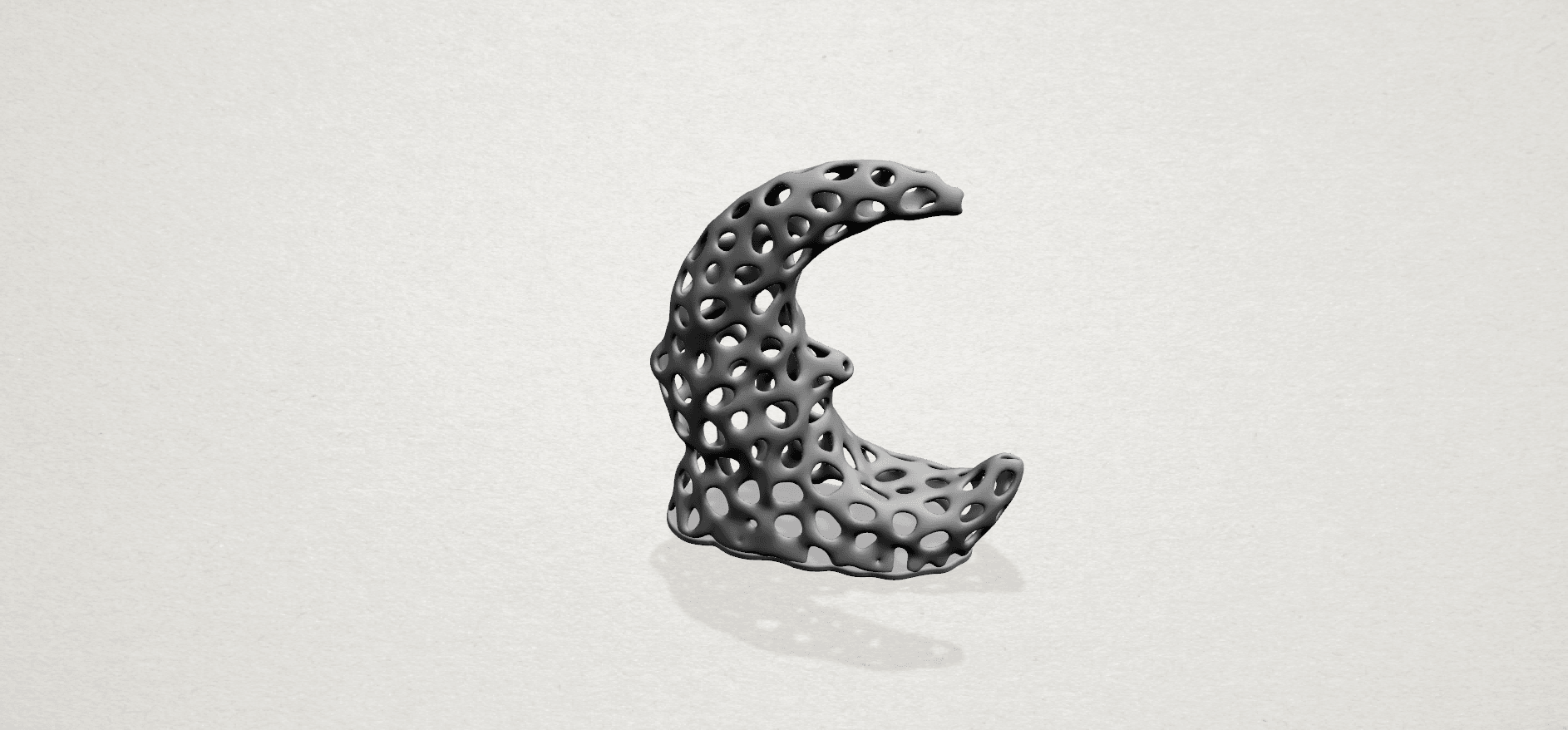 Voronoi Moon - A02.png Download free STL file Voronoi Moon • Design to 3D print, GeorgesNikkei