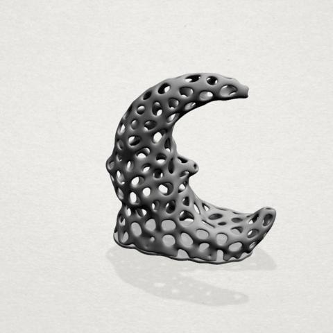 Voronoi Moon - A02.png Télécharger fichier STL gratuit Lune Voronoi • Modèle pour impression 3D, GeorgesNikkei
