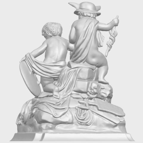 23_TDA0271_Two_kids_iiA06.png Télécharger fichier STL gratuit Deux enfants 02 • Design à imprimer en 3D, GeorgesNikkei