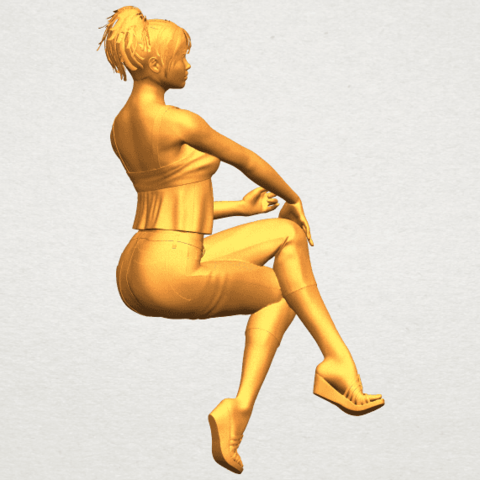 A01.png Download free STL file Naked Girl H06 • Object to 3D print, GeorgesNikkei