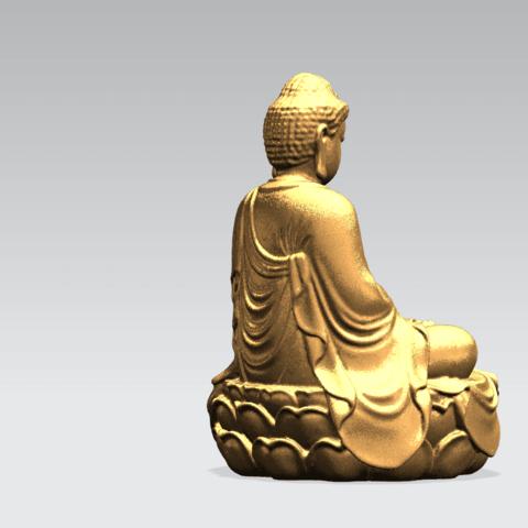 Gautama Buddha -B04.png Télécharger fichier STL gratuit Gautama Bouddha 01 • Plan pour impression 3D, GeorgesNikkei