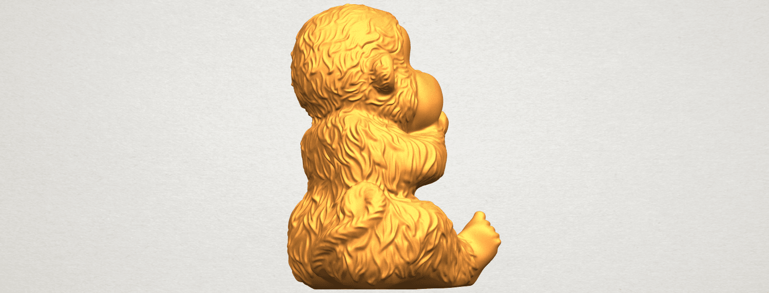 A08.png Download free STL file Monkey A04 • Model to 3D print, GeorgesNikkei