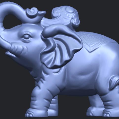 09_Elephant_02_150mmB04.png Télécharger fichier STL gratuit Eléphant 02 • Plan imprimable en 3D, GeorgesNikkei