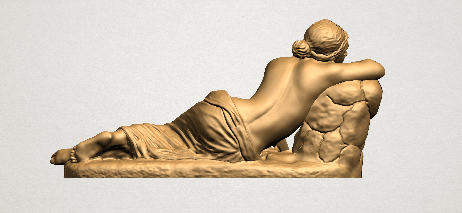 Naked Girl - Lying on Side - A06.png Download free STL file Naked Girl - Lying on Side • 3D printer template, GeorgesNikkei