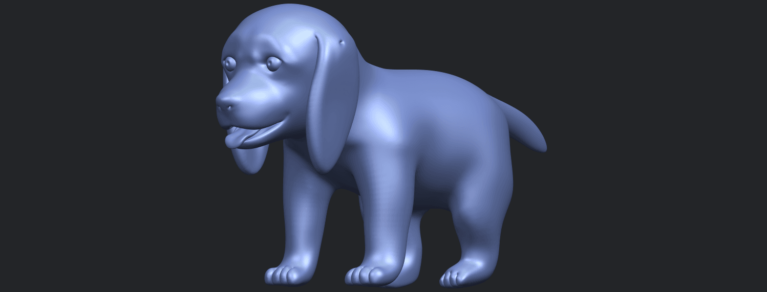 15_TDA0533_Puppy_01B05.png Download free STL file Puppy 01 • 3D printer template, GeorgesNikkei