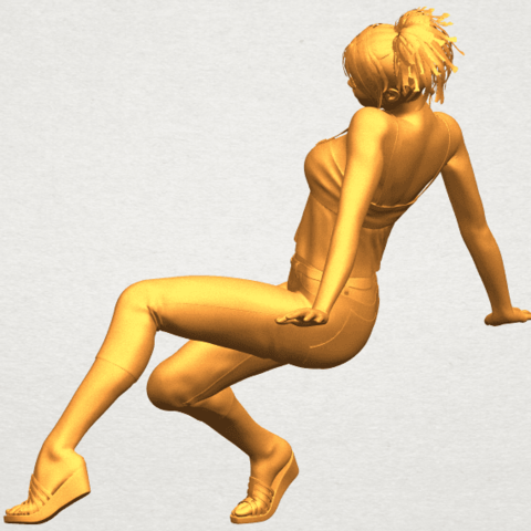 A04.png Download free STL file Naked Girl G06 • 3D printable object, GeorgesNikkei