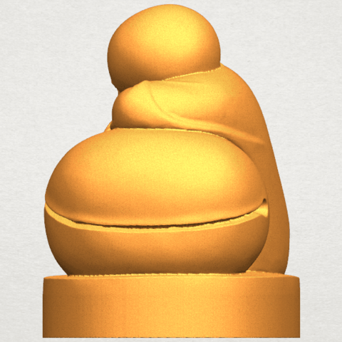 TDA0346 Little Monk A02.png Download free STL file Little Monk 02 • Design to 3D print, GeorgesNikkei