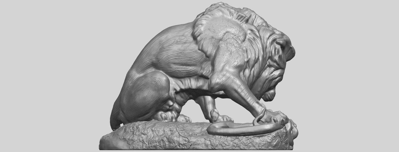 16_Lion_(iii)_with_snake_60mm-A07.png Télécharger fichier STL gratuit Lion 03 - avec serpent • Modèle imprimable en 3D, GeorgesNikkei
