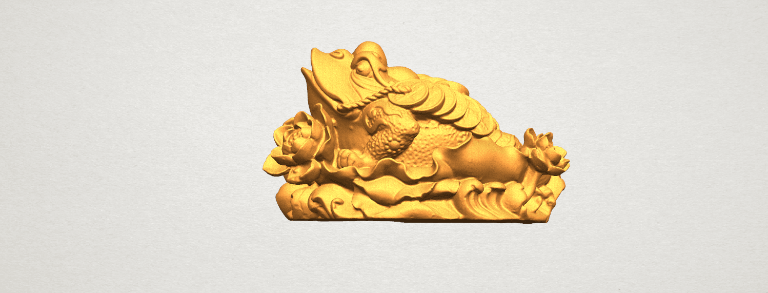 TDA0336 The Golden Toad A01.png Download free STL file The Golden Toad • 3D printer design, GeorgesNikkei
