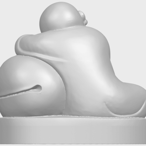 03_TDA0346_Little_MonkA06.png Download free STL file Little Monk 02 • Design to 3D print, GeorgesNikkei
