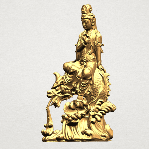 Avalokitesvara Bodhisattva (with fish) 88mm - A02.png Télécharger fichier 3DS gratuit Avalokitesvara Bodhisattva (avec poisson) 01 • Modèle imprimable en 3D, GeorgesNikkei