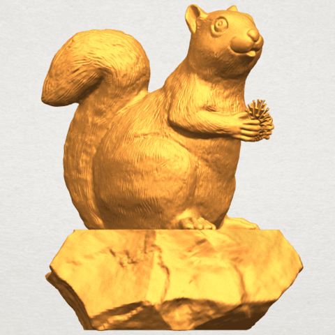 A07.png Download free STL file Squirrel 01 • Model to 3D print, GeorgesNikkei