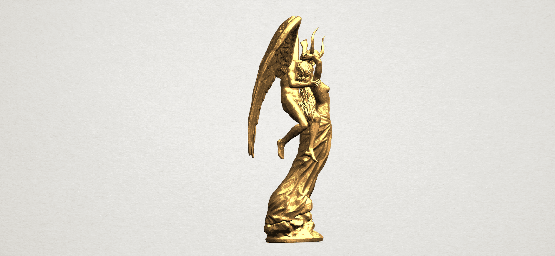 Angel and devil - C05.png Download free 3DS file Angel and devil • 3D print template, GeorgesNikkei