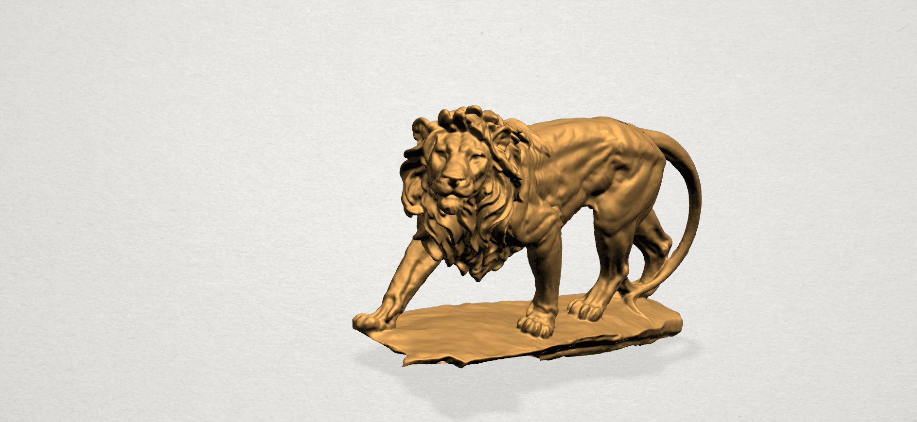 Lion (ii) -50mm-A02.png Télécharger fichier STL gratuit Lion 02 • Design pour impression 3D, GeorgesNikkei