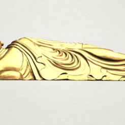 3d model Sleeping Buddha 01, Miketon