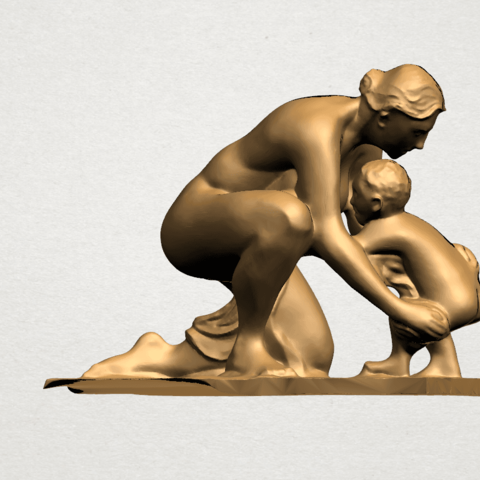 Mother-Child (iv) A05.png Download free STL file Mother and Child 04 • 3D print template, GeorgesNikkei