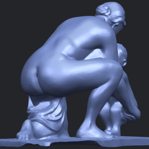 10_Mother-Child_(iv)_90mm_(repaired)B05.png Download free STL file Mother and Child 04 • 3D print template, GeorgesNikkei