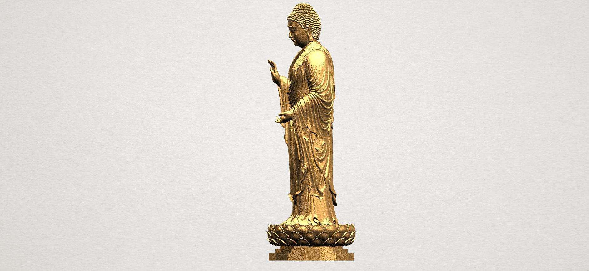 Gautama Buddha Standing (ii) A03.png Download free STL file Gautama Buddha Standing 02 • 3D printer design, GeorgesNikkei