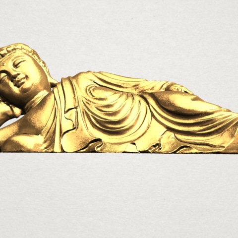 Sleeping Buddha (i) A02.png Download free STL file Sleeping Buddha 01 • 3D printable design, GeorgesNikkei
