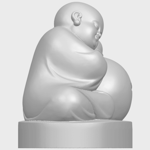 03_TDA0346_Little_MonkA09.png Download free STL file Little Monk 02 • Design to 3D print, GeorgesNikkei