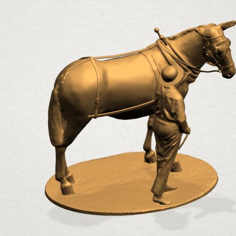 Horse with Man (i) - B02.png Télécharger fichier STL gratuit Cheval avec Man 01 • Objet à imprimer en 3D, GeorgesNikkei