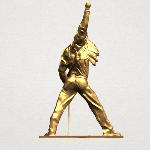 Statue of Freddie Mercury A06.png Download free STL file Statue of Freddie Mercury • 3D printable template, GeorgesNikkei