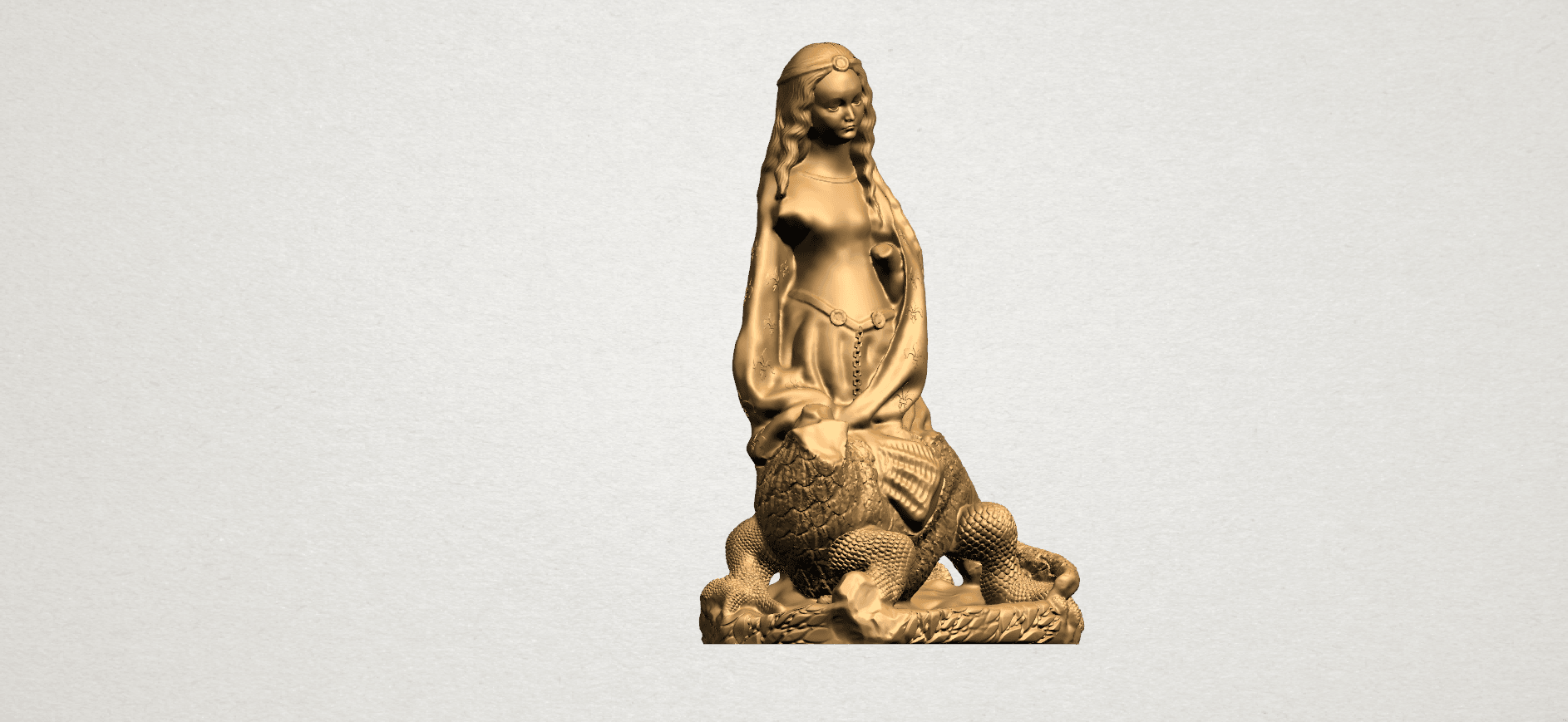 Saint Margaret A08.png Download free STL file Saint Margaret  • Template to 3D print, GeorgesNikkei