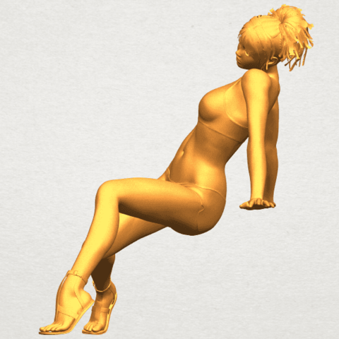 A03.png Download free STL file Naked Girl G03 • 3D print object, GeorgesNikkei