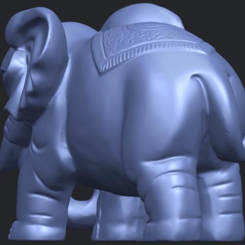 Elephant_03_-122mmB06.png Télécharger fichier STL gratuit Éléphant 03 • Modèle imprimable en 3D, GeorgesNikkei