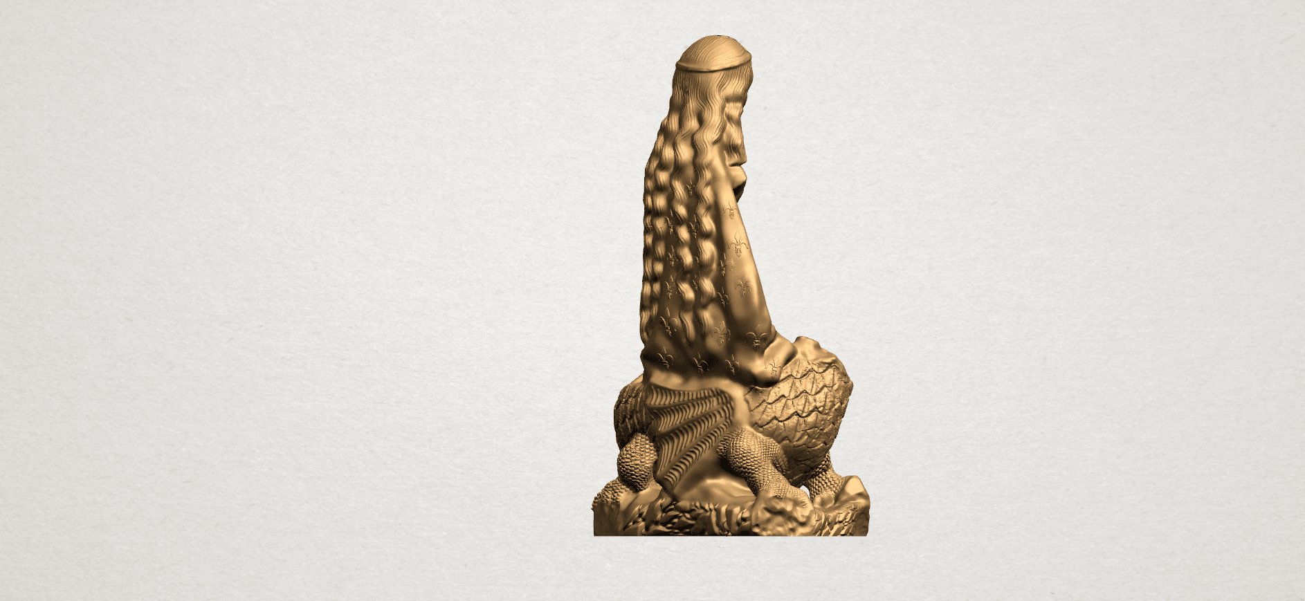 Saint Margaret A06.png Download free STL file Saint Margaret  • Template to 3D print, GeorgesNikkei