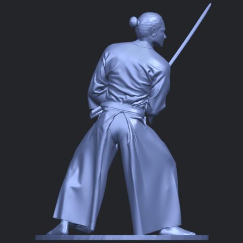 05_TDA0544_Japanese_WarriorB07.png Download free STL file Japanese Warrior • 3D printer model, GeorgesNikkei