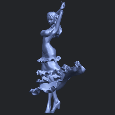 23_Girl_with_Dress_80mm-B06.png Download free STL file Girl with Dress • Object to 3D print, GeorgesNikkei