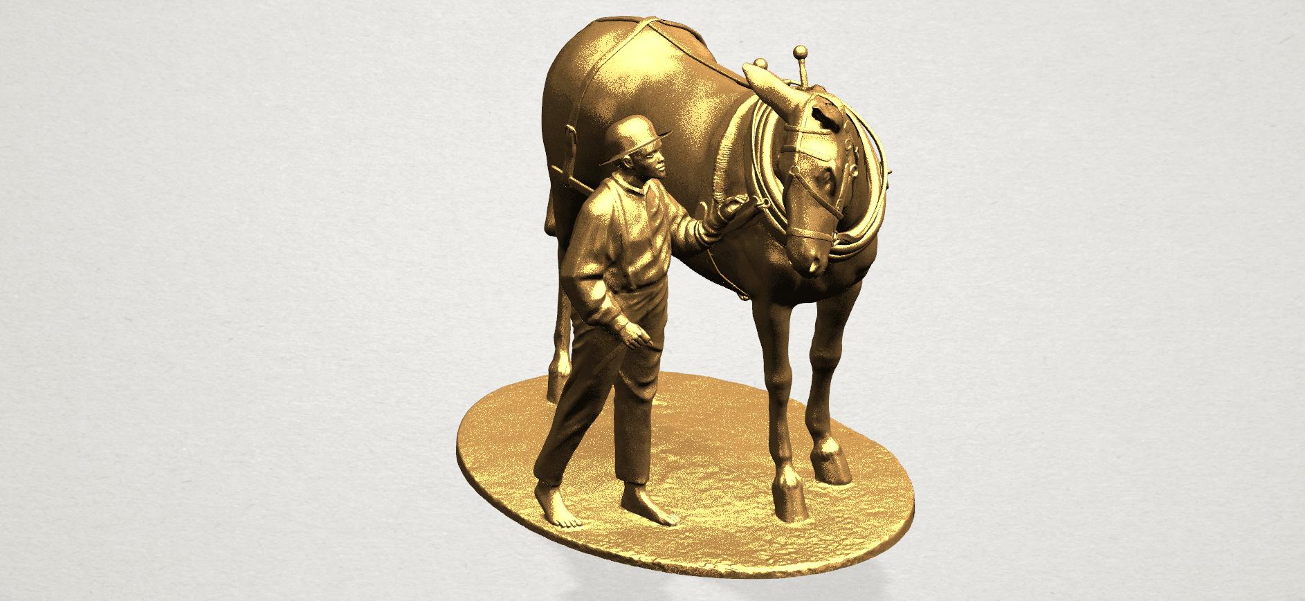 Horse with Man (i) - A11.png Télécharger fichier STL gratuit Cheval avec Man 01 • Objet à imprimer en 3D, GeorgesNikkei
