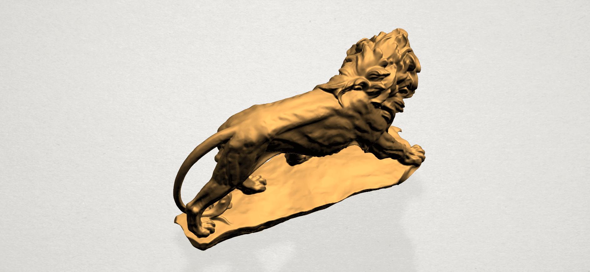 Lion (ii) -50mm-A04.png Télécharger fichier STL gratuit Lion 02 • Design pour impression 3D, GeorgesNikkei