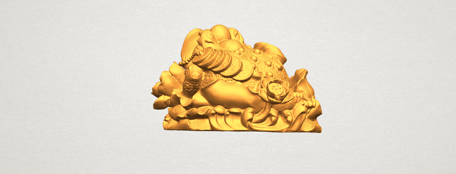 TDA0336 The Golden Toad A02.png Download free STL file The Golden Toad • 3D printer design, GeorgesNikkei