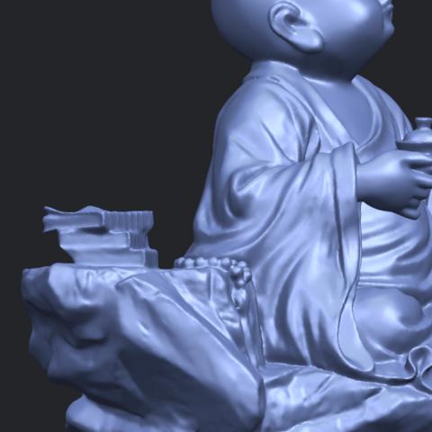 17_TDA0558_Little_Monk_Drink_TeaA10.png Télécharger fichier STL gratuit Boire du thé Little Monk Drink Tea • Design à imprimer en 3D, GeorgesNikkei