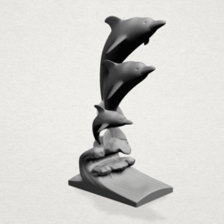 Free 3d print files Three Dolphin, GeorgesNikkei