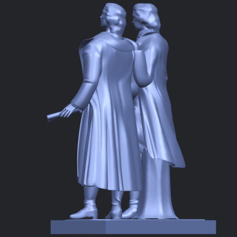 15_Goethe_schiller_80mmB05.png Télécharger fichier STL gratuit Goethe Schiller • Modèle imprimable en 3D, GeorgesNikkei