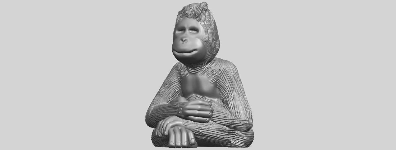09_TDA0606_ChimpanzeeA02.png Télécharger fichier STL gratuit Chimpanzé • Design imprimable en 3D, GeorgesNikkei