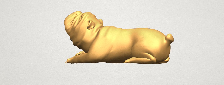 TDA0574 Bull Dog 07 A02.png Télécharger fichier STL gratuit Chien de taureau 07 • Objet imprimable en 3D, GeorgesNikkei