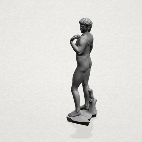 Michelangelo(i) -A02.png Download free STL file Michelangelo 01 • 3D printable template, GeorgesNikkei