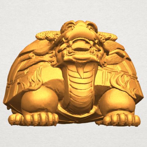 TDA0333 Dragon  Tortoise A06.png Download free STL file Dragon  Tortoise • Model to 3D print, GeorgesNikkei